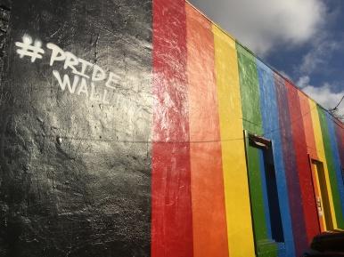 Houston Pride wall #pridewallHTX