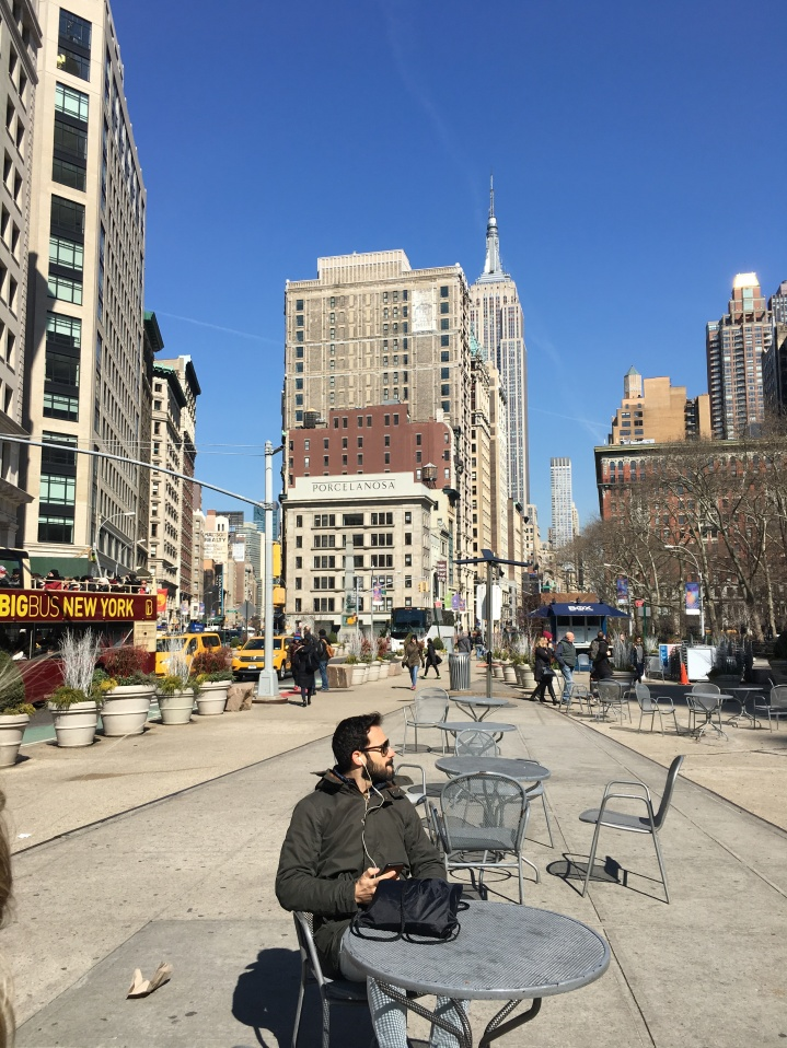 opposite the Flatiron is the Empire State Building