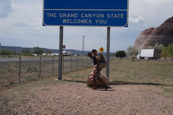 Piggyback ride Arizona