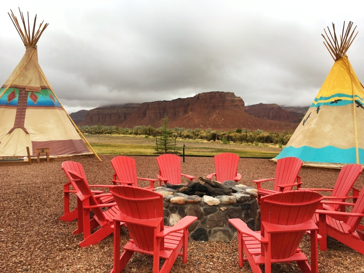 Fire pit at Capitol Reef Resort