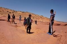leaving antelope canyon