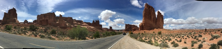 Arches Drive panorama