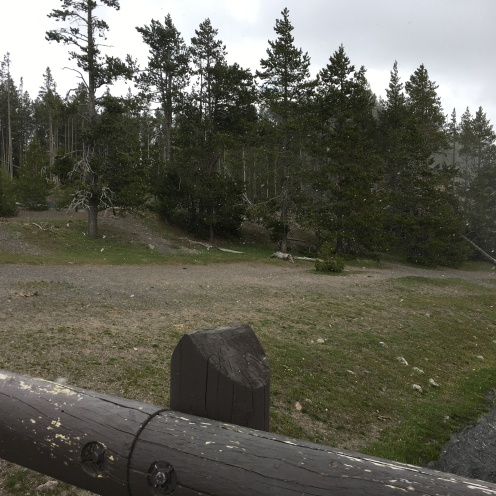 Snowing at Midway Geyser basin