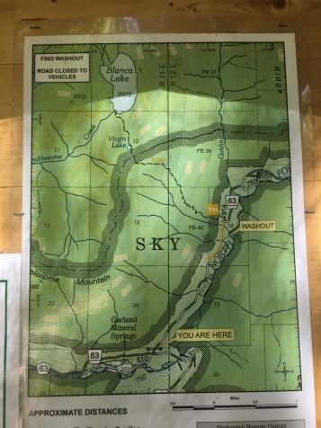 Blanca Lake Map