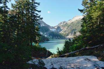snow at blanca lake