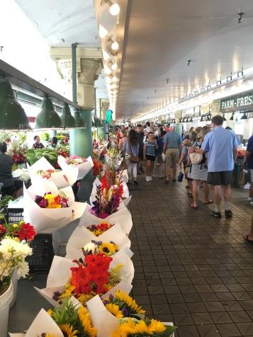 walking flower market
