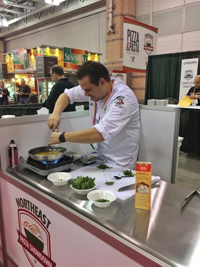 Matt making pasta