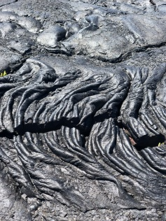 wrinkled lava