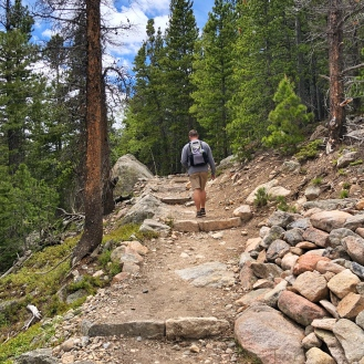 Brad. Flattop mtn trail
